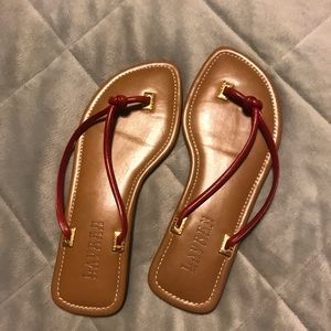 Lauren Ralph Lauren Shoes - Red flip flops